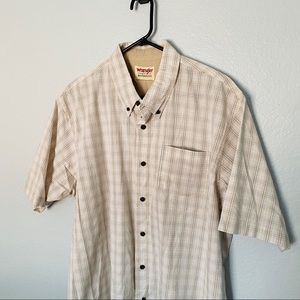 3/$25 NWOT WRANGLER Button Up Sleeve Plaid Shirt